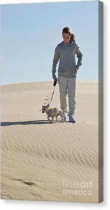 Canvas Print featuring the photograph Sand Walk by Tara Lynn