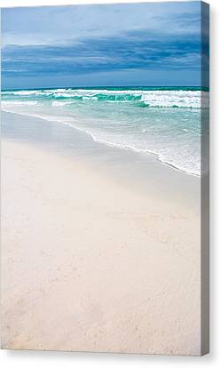 Sand Water And Sky Canvas Print by Shelby Young