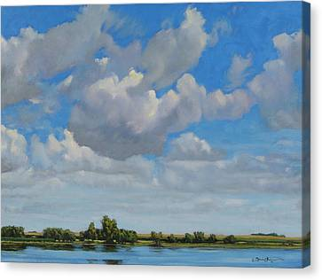 Sandbar Slough July Skies Canvas Print