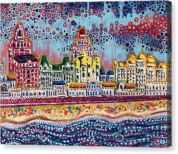 Sandcastles Canvas Print by Christie Mealo