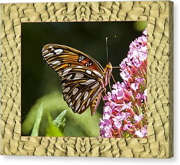 Canvas Print featuring the photograph Sandflow Butterfly by Bell And Todd