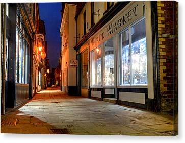 Sandgate, Whitby At Night Canvas Print by Sarah Couzens