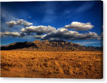 Sandia Crest In Late Afternoon Light Canvas Print