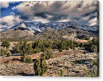Canvas Print featuring the photograph Sandia Mountain Landscape by Alan Toepfer