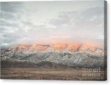 Sandia Mountains Rustic Sunset Landscape Canvas Print by Andrea Hazel Ihlefeld