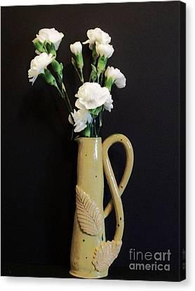 Sandi's Leaf Vase Canvas Print by Marsha Heiken