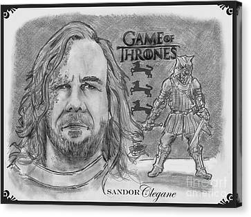 Sandor Clegane- The Hound Canvas Print by Chris  DelVecchio