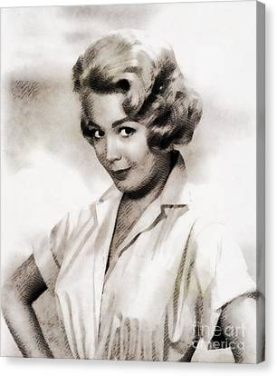 Sandra Dee, Vintage Actress Canvas Print by John Springfield