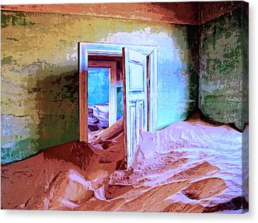 Abandoned Houses Canvas Print - Sands Of Time by Dominic Piperata