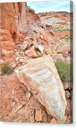 Canvas Print featuring the photograph Sandstone Arrowhead In Valley Of Fire by Ray Mathis