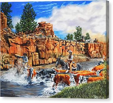 Sandstone Crossing Canvas Print