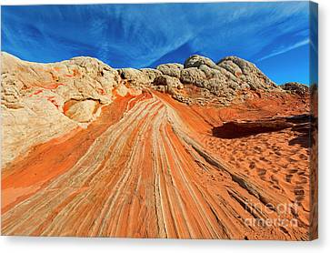 Sandstone Racetrack Canvas Print by Mike Dawson