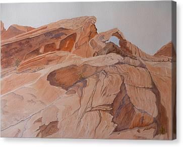 Canvas Print featuring the painting Sandstone Rainbow by Joel Deutsch
