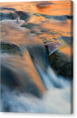 Sandstone Reflections Canvas Print by Mike  Dawson
