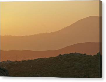 Sandstorm During Sunset On Old Highway Route 80 Canvas Print by Christine Till