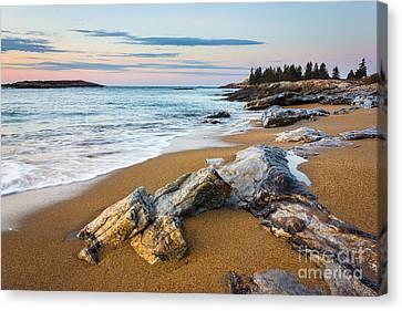 Mid-coast Maine Canvas Print - Sandy Beach At Reid by Benjamin Williamson