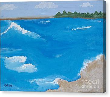 Sandy Beach Ll Canvas Print by Marsha Heiken