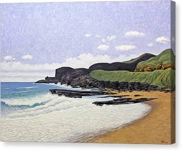 Sandy Beach Oahu Canvas Print by Norman Engel