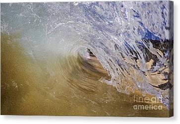 Sandy Beachbreak Wave Canvas Print by Dustin K Ryan