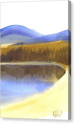 Sandy Blue Dusky Mountain Lake Canvas Print by Kip DeVore