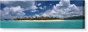 Sandy Cay Beach British Virgin Islands Panoramic Canvas Print