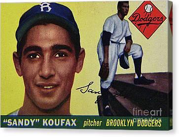 Sandy Koufax-brooklyn Dodgers Canvas Print