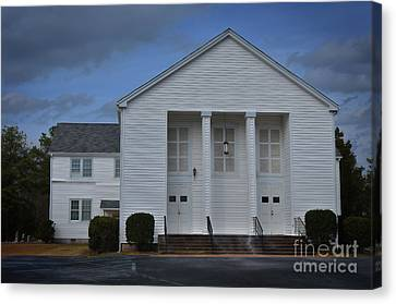 Blythewood Canvas Print - Sandy Level Baptist Church by Skip Willits