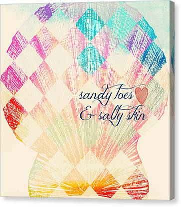Sandy Toes And Salty Skin Canvas Print