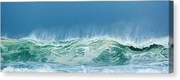 Sandy Wave Canvas Print by Michelle Wiarda