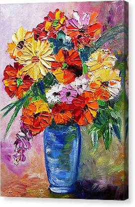 Sandy's Flowers Canvas Print by Mary Jo Zorad