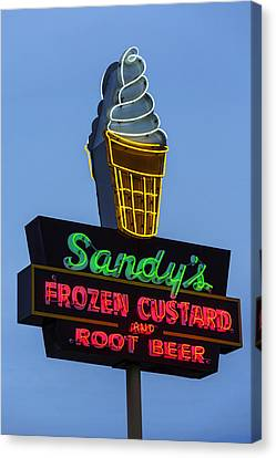 Sandys Frozen Custard - Austin Canvas Print by Stephen Stookey