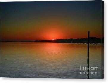 Sanford Morning Sunrise Canvas Print by Deborah Benoit