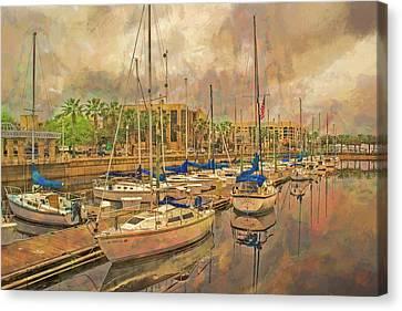 Canvas Print featuring the photograph Sanford Sailboats by Lewis Mann
