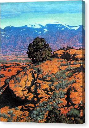Sangre Dechristos Canvas Print by Kevin Lawrence Leveque