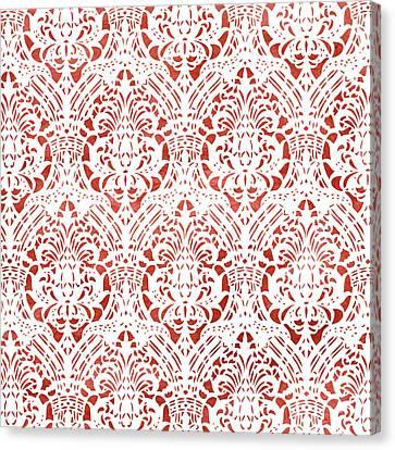Sanguine Vintage Pattern Canvas Print