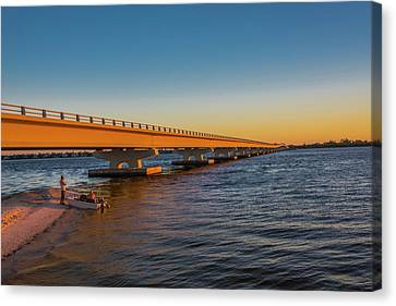 Canvas Print featuring the photograph Sanibel Causeway IIi by Steven Ainsworth