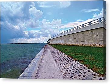 Canvas Print featuring the photograph Sanibel Island Bridge by Timothy Lowry