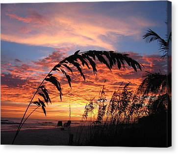Relaxed Canvas Print - Sanibel Island Sunset by Nick Flavin