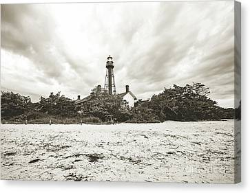 Sanibel Lighthouse Sunrise Canvas Print by Scott Pellegrin