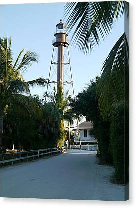 Sanibel Or Point Ybel Light Canvas Print by Christiane Schulze Art And Photography