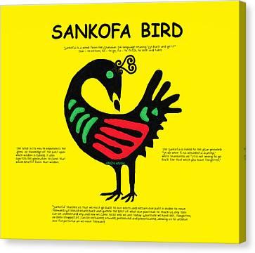 Sankofa Bird Of Knowledge Canvas Print