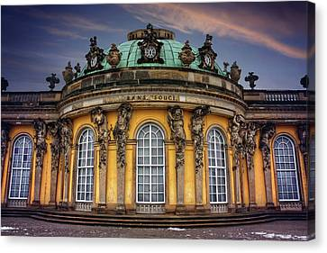 Gothic Germany Canvas Print - Sanssouci Palace In Potsdam Germany  by Carol Japp