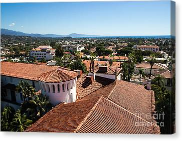 Santa Barbara From Above Canvas Print by Suzanne Luft