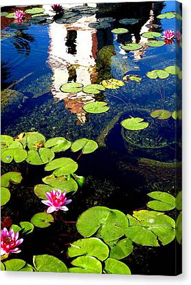 Santa Barbara Mission Fountain Canvas Print