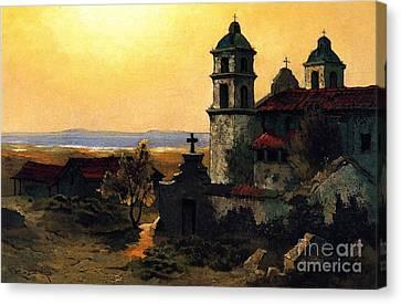 Santa Barbara Mission Canvas Print by Pg Reproductions