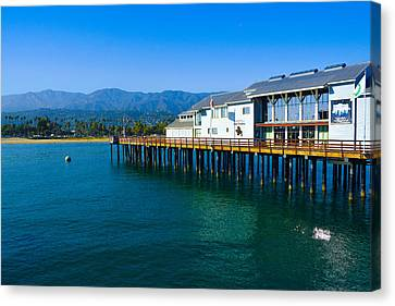 Canvas Print featuring the photograph Santa Barbara Pier by Dany Lison