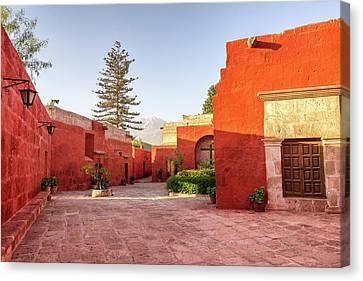 Santa Catalina Monastery Courtyard Canvas Print