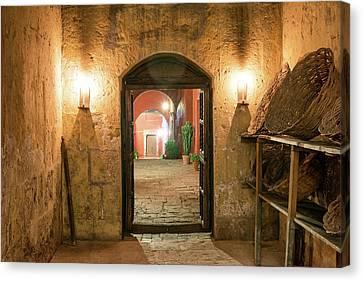 Catherine White Canvas Print - Santa Catalina Monastery Hallway by Jess Kraft