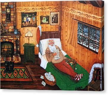 Santa Claus At Home. Canvas Print