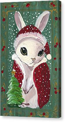 Santa Claus Bunny Canvas Print by Sylvia Pimental